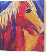 Sunrise Pony Wood Print