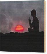 Sunrise Prayer Wood Print