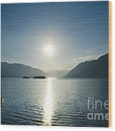 Sunrise Reflected Over An Alpine Lake Wood Print