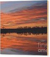 Sunrise Reflections Wood Print