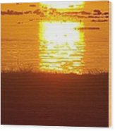 Sunrise - Reunion Island - Indian Ocean Wood Print by Francoise Leandre