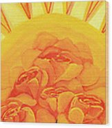 Sunrise Roses Wood Print