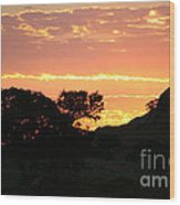 Sunrise Scenery Wood Print