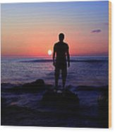 Sunrise Silhouette Wood Print by Svetoslav Sokolov