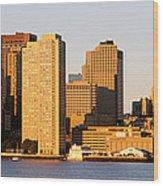 Sunrise, Skyline, Boston Wood Print