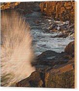 Sunrise Splash Wood Print