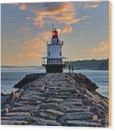 Sunrise Spring Point Ledge Wood Print