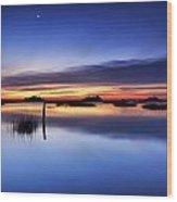 Sunrise Sunset Art Photo - Slip Slidin' By Jo Ann Tomaselli Wood Print