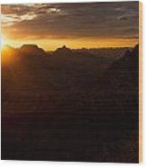 Sunrise Sunset Wood Print