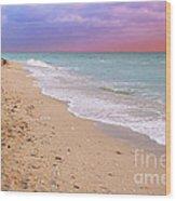 Sunrise Surf At Miami Beach  Wood Print