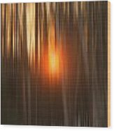 Sunrise Through Birches Wood Print
