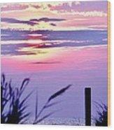 Sunrise Through The Dunes Wood Print