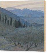 Sunrise Umbria 1914 Wood Print