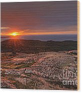 Sunrise View From Cadillac Mountain Wood Print