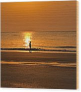 Sunrise Walk Wood Print