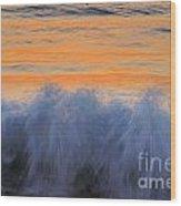 Sunrise Wave Wood Print