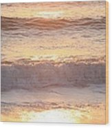 Sunrise Waves Wood Print