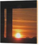 Sunrise Window Wood Print