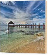 Sunscape Sabor Pier Wood Print