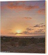 Sunset @ Rim Trail Wood Print