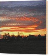 Sunset 02 28 13 Wood Print