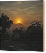 Sunset-1 Wood Print by Fabio Giannini