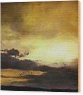 Pouzol Sunset 92 X 122cm Wood Print