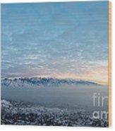 Sunset Above The Smog  Wood Print