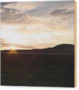 Sunset Across I 90 Wood Print