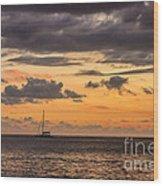 Romantic Sunset Adventure Wood Print