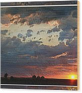 Sunset After A Thunderstorm Photoart Wood Print