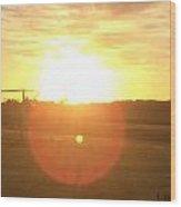 Sunset After Soccer Wood Print