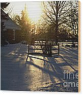 Sunset After The Snow Storm Wood Print