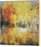 Sunset After The Storm Abstract Wood Print