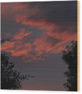 Sunset After The Storm Wood Print