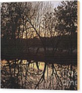 Sunset Along Jordan Creek Wood Print