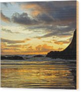 Sunset And Seal Rock Wood Print