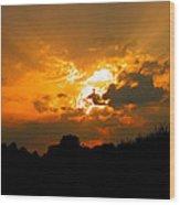 Sunset Angel Wood Print