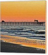 Sunset Apache Pier Wood Print