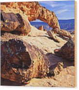 Sunset Arch Wood Print by Ray Mathis