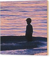 Sunset Art - Contemplation Wood Print