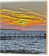 Sunset Art Outer Banks Wood Print
