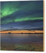 Sunset At Andenes Wood Print