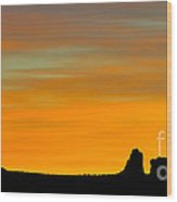 Sunset At Arches National Park Wood Print