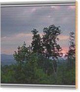 Sunset At Brasstown Bald Wood Print