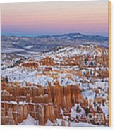 Sunset At Bryce Canyon National Park Utah Wood Print
