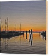 Sunset At Burlington Bay - Vermont Wood Print