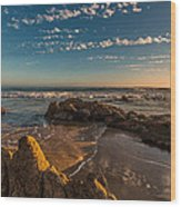 Sunset At Crystal Cove 12 Wood Print