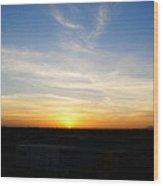 Sunset At Darfur Wood Print