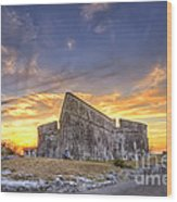 Sunset At Fort Fincastle Wood Print